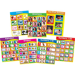 "Carson Dellosa Publishing Company Early Learning Charlet Set, 7 Charts, 17"" x 22"""