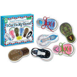 "Carson Dellosa Publishing Company ""I Can Tie My Shoes!"" Lacing Cards, Ages 4 and Up"