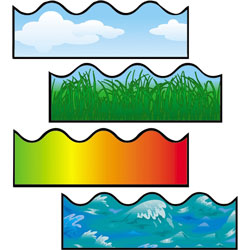 Carson Dellosa Publishing Company Scalloped Border, Includes Clouds/Grass/Ocean Waves/Rainbow