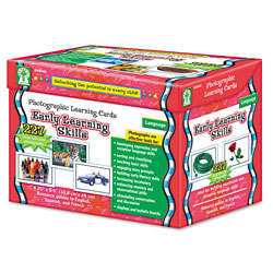Carson Dellosa Photographic Learning Cards Boxed Set, Early Learning Skills, Grades K-12