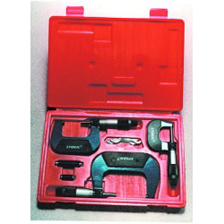 Central Tools 3 Piece Outside Micrometer Set