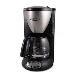 CoffeePro Home/Office Euro Style Coffee Maker, Black/Stainless Steel