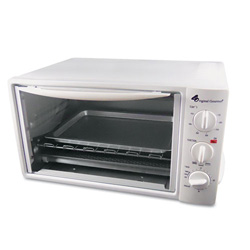 CoffeePro Multi-Function Toaster Oven with Multi-Use Pan, 15 x 10 x 8, White