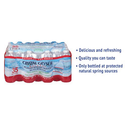 Crystal Geyser Alpine Spring Water, 16.9 oz Bottle, 35/Case