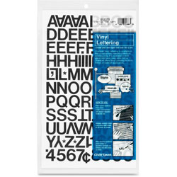 "Chartpak/Pickett Press On Vinyl Uppercase Letters/Numbers, 3/4"" High, Black"
