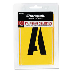 "Chartpak/Pickett Painting Stencil Set, 3"" Gothic Style Capital Letters, Numbers, Other Characters"