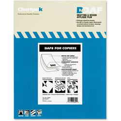 Chartpak/Pickett Self Adhesive Drafting Applique Film for Copiers, 8 1/2x11, 100 Matte Sheets/Box