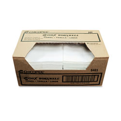 "Chicopee Worxwell Cleaning Wipes, 13""x15"", White, Case of 300"