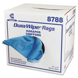 Chicopee DuraWipe Cleaning Wipes, Blue, Case of 250 Towels