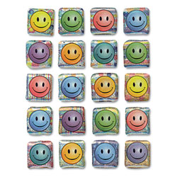 Chenille Kraft Creativity Street Peel & Stick Gemstone Stickers, Smiley Face, 20/Pack