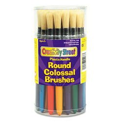 Chenille Kraft Colossal Brush, Natural Bristle, Round, 30/Set