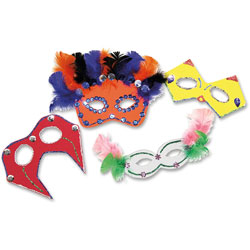 Chenille Kraft Company Foam Mask Kit, Assorted Colors