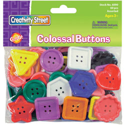 Chenille Kraft Company Plastic Craft Buttons, Assorted Colors/Sizes