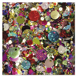 Chenille Kraft Sequins & Spangles, Assorted Metallic Colors, 4 oz/Pack