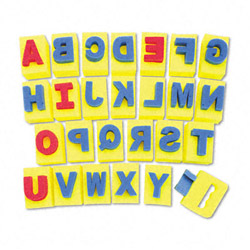 Chenille Kraft Company Sponge Letters, Integrated Handle, A - Z Capital Letters