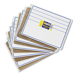 Chenille Kraft Company Student Dry-Erase Boards, 12 x 9, Blue/White, 10/Set