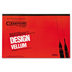 "ClearPrint 11 x 17"" Acid Free Vellum Pads, White"