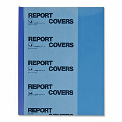 C-Line Report Covers w/Binding Bars, Blue Covers, Blue Bars