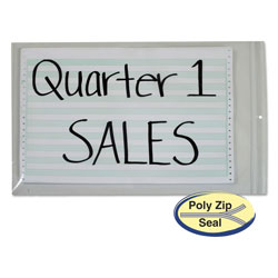 "C-Line ""Poly Zip"" Shop Ticket Holder for 13 x 16 3/4 Insert, Clear, 50 per Box"