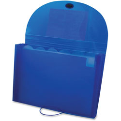 C-Line Biodegradable Expanding File, 7-Pocket, 6-Tab, Letter, Blue