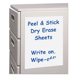 "C-Line Self-Stick Dry Erase Sheets, 24"" x 17"""