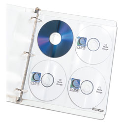 C-Line 61948 Refill Pages for CD/DVD Ring Binder Kit
