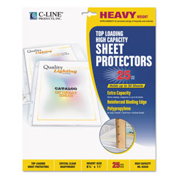 C-Line Top Loading Sheet Protector, Clear