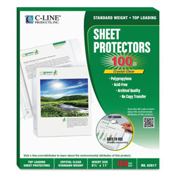 C-Line Biodegradable Sheet Protector, Clear