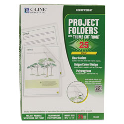 C-Line Letter Size C-Line Biodegradable Polypropylene Project Folders
