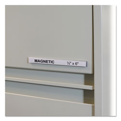 "C-Line Label Holder For Magnetic Shelf/Bin, 6""Lx1/2""H, Clear"