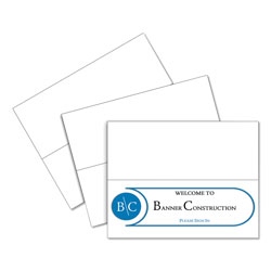 C-Line Ink Jet/Laser Compatible White Cardstock Name Tents, 4 1/4 x 11, 50/Box