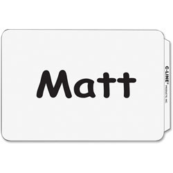 C-Line Plain White Self Adhesive Name Badges, 3 1/2 x 2 1/4, 100/Box