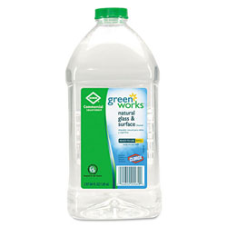 Green Works Natural Glass Surface Cleaner Refill, 64 Ounce