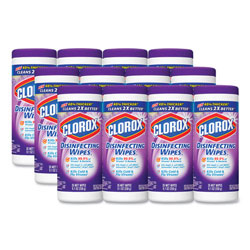 Clorox Disinfecting Wipes, Lavender Scented, Case of 12