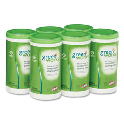 Green Works Disinfecting Wipes, Case of 6