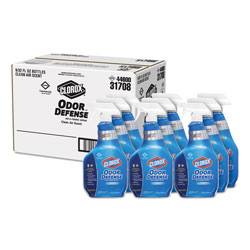 Clorox Commercial Solutions Odor Defense Air/Fabric Spray, Clean Air, 32oz Bottle,9/CT