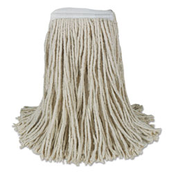 Boardwalk Banded Cotton Mop Heads, Cut-End, 20oz, White, 12/Carton