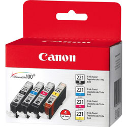 Canon Ink Cartridge, 4/PK, Color