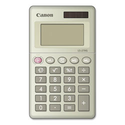 "Canon 8-Digit Handheld Calculator, Dual Power, 2-3/8"" x 4"" x 3/8"", BK"