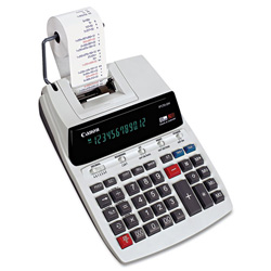 Canon P170DH Two-Color Roller Printing Calculator, 12-Digit Fluorescent, Black/Red