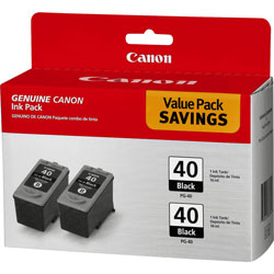 Canon Ink Cartridge, 2/PK, Black