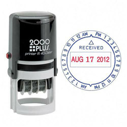 "Consolidated Stamp Custom 2000 Plus® Date/Time Self Inking Two Color ""Received"" Stamp"