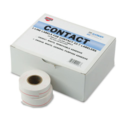 Consolidated Stamp 1 Line Pricemarker Labels, 7/16 x 13/16, White, 1200/Roll, 16 Roll Box