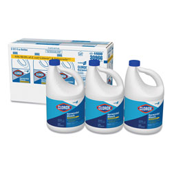 Clorox Germicidal Bleach, 121oz., 3/CT, Clear