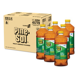 Pine Sol Disinfecting Cleaner, Deodorizing, Carton of 6