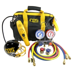 CPS Tool Bag Kit with Leak Detector and Manifold