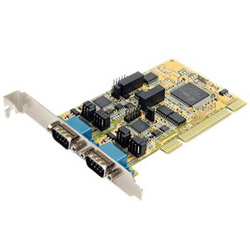 Startech 2 Port RS232/422/485 PCI Serial Adapter Card w/ ESD Protection - Serial Adapter - 2 Ports