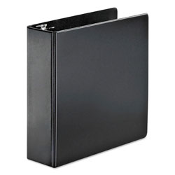 "Cardinal 45% Recycled Slatn Heavyweight D-Ring Binder, 3"" Capacity, Black"