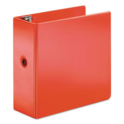 "Cardinal 45% Recycled Slatn Heavyweight D-Ring Binder, 5"" Capacity, Red"