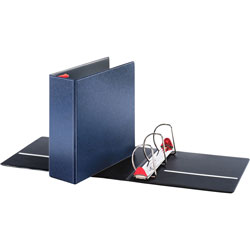 "Cardinal 52% Recycled Locking D-Ring Binder, 4"" Capacity, Blue"